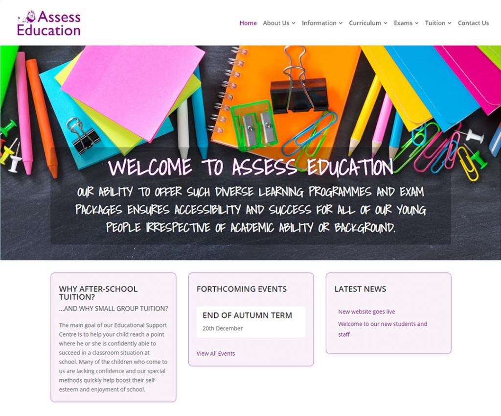 Assess Education website